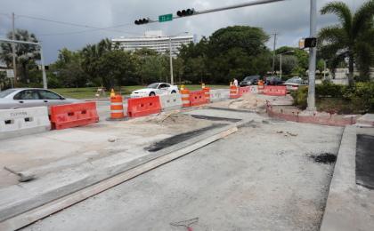 Dickens Avenue Asphalt & Pedestrian Walkways